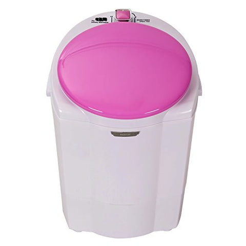 The Laundry Alternative Miniwash Portable, Compact Mini Washing Machine (Pink) with 3 Year Full Warranty