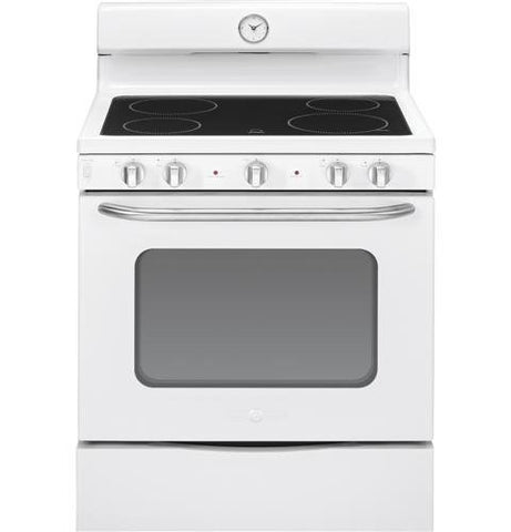 "GE ABS45DFWS Artistry 30"" White Electric Smoothtop Range"