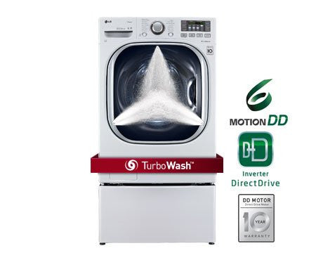 LG WM4070HWATurboWash 4.3 Cu. Ft. White Stackable With Steam Cycle Front Load Washer - Energy Star