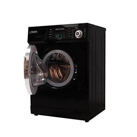 ECOAP EZ 4000 CV Black Equator 13 lbs Convertible Combo Washer Dryer with Optional Venting/Condensing Drying, Black
