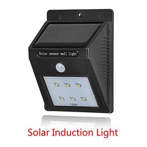 (1 Pack)Bright 6 LED Solar light 100lm Waterprooof Wireless Security Lighting Outdoor Motion Sensor Lighting for Garden, Patio, Fencing, and Pathway