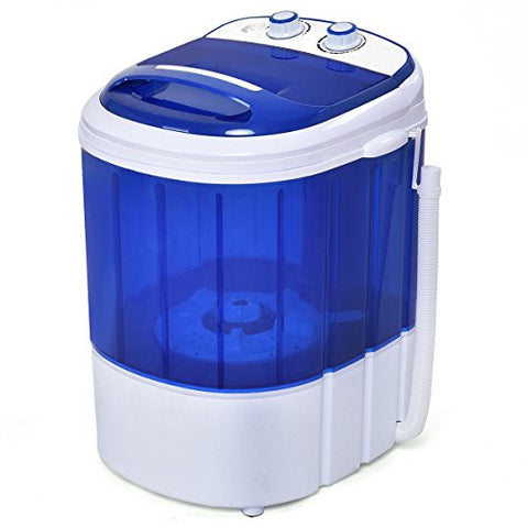 Costway Mini Washing Machine Small Compact Washer 6.6lbs Capacity Blue