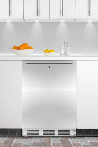 Summit ALFB621LSSHH: ADA compliant built-in undercounter medical all-freezer capable of -25(degree) C operation, with front lock, stainless steel door, and horizontal handle