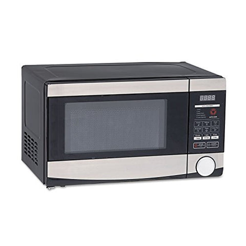 0.7 Cu.ft Capacity Microwave Oven, 700 Watts, Stainless Steel and Black
