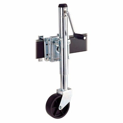 "Cequent 49220000 Trailer Jack Sidewind Side-Mount 10"" 1000-Lbs With Wheel"