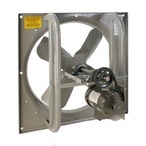 "Airmaster 42557 High Pressure Belt Drive Fan, Single Speed, Totally Enclosed, 3 Phase, 24"" Prop Diameter, 230/460V, 3/4HP Motor"