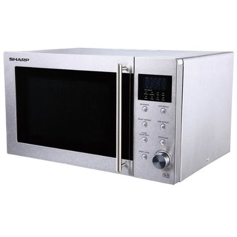 Sharp R28STM Microwave with 1 Year Warranty, 23 Litre, 800 Watt, Silver