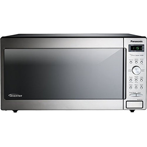 Panasonic 1250 Watt 1.6 Cu. Ft. Countertop Microwave Oven with Inverter Technology & All NEW Genius One-Touch Sensor Cooking with Programmable Features and 18 Preset Auto-Cook Menu Items, Child Lock Feature Included