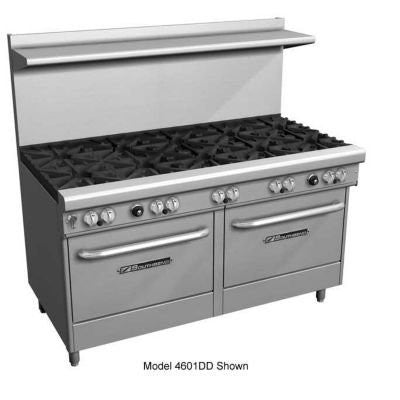 Southbend 4603AA-2CR LP - 60-in Range w/ 6-Star Burners & Right Charbroiler, 2-Convection Oven, LP