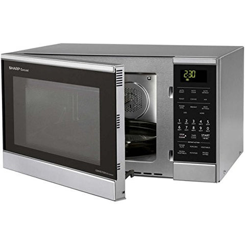 Sharp 0.9 Cu. Ft. 900W Countertop Microwave by Sharp, Microwave Oven, Stainless Steel