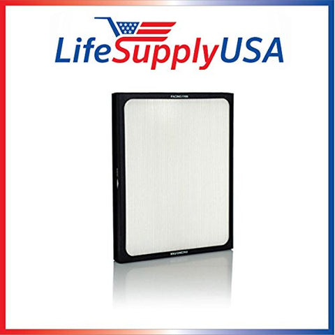 1 Air Purifier Filter fits ALL Blueair 200 & 300 Series Models 201, 210B, 203, 250E,200PF, 201PF ; By LifeSupplyUSA