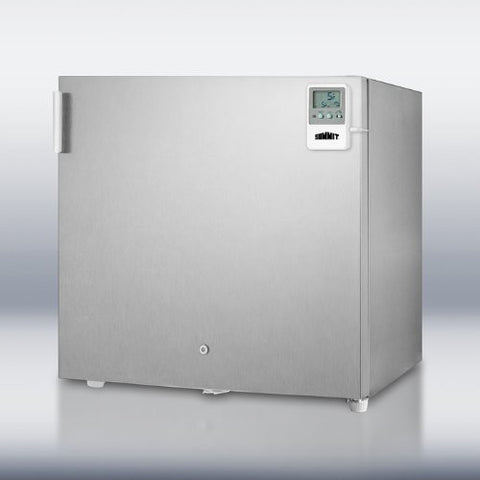 Summit FS20LCSSMED: Compact -20(degree)C all-freezer in stainless steel