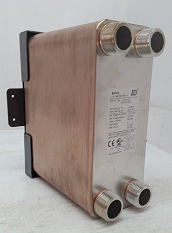 90 Plate Water to Water Brazed Plate Exchanger 11/4