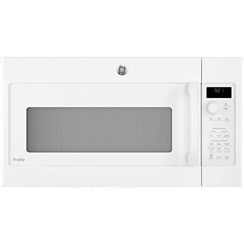 GE PVM9215DKWW Profile 2.1 Cu. Ft. White Over-the-Range Microwave
