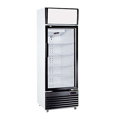 12.4 cu. ft. Single Door Ventilated Cooling Frost Free Beer Beverages Showcase Commercial Refrigerator Merchandise Glass Display Upright Cooler Cabinet Cold Storage 350L
