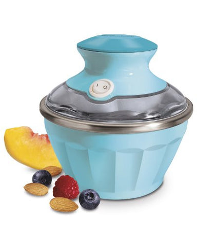 Hamilton Beach 68661 Half Pint Soft Serve Ice Cream Maker , Blue