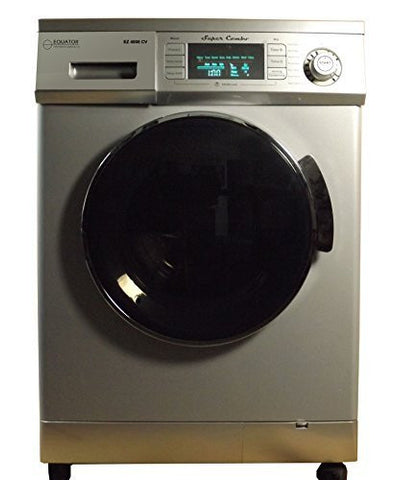 1.6 cu. ft. Super Combination Washer and Electric Dryer Finish: Silver