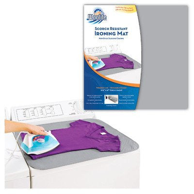 Woolite Reversible Scorch Resistant Silicone Coated Magnetic Ironing Mat 27.5x21 Inch- Colors May Vary
