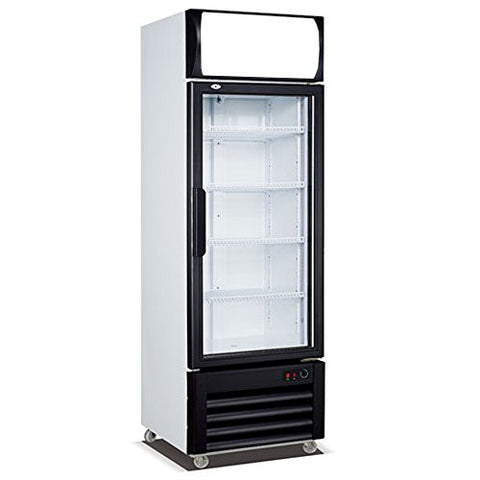 12.7 cf. Single Door Ventilated Cooling Frost Free Beer Beverages Merchandise Showcase Commercial Refrigerator Glass Display Upright Cooler Cabinet 360L
