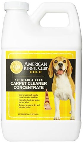 AMERICAN KENNEL CLUB GOLD 2X Carpet and Upholstery Concentrate Cleaning Solution, 48-Ounce