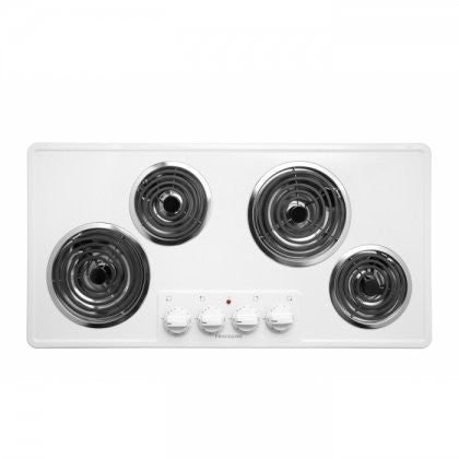 """36"""" Electric Cooktop - Coil - White"""