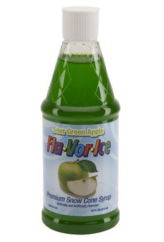 Fla-Vor-Ice FRSS16PDQ-8SGA 16-Ounce Snow Cone Syrup, Apple