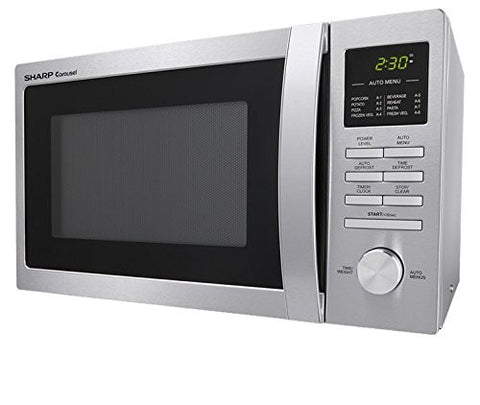 Sharp Carousel Countertop Microwave Oven 0.9 Cu. Ft. 900W Stainless Steel / Model: R-248BS (Certified Refurbished)
