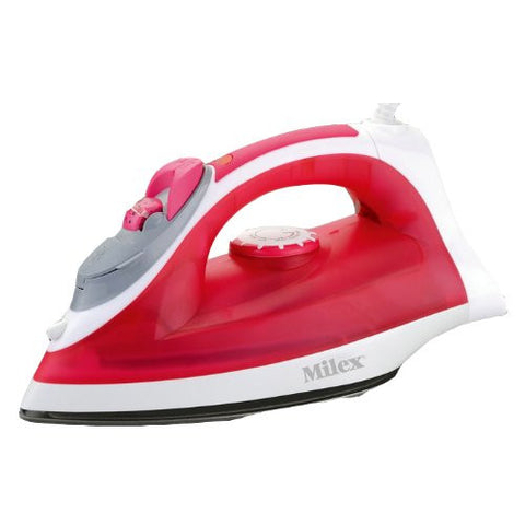Milex Top Quality By Steam Iron Full Function St-1200 Steam Iron - 1.20 Kw - Red Self Clean Waster Mister