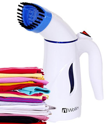 Clothes Steamer - Handheld And Portable Fabric And Garment Steamer - Perfect For Home And Travel Use, Curtains, Couches & Carpets - With Free Brush Nozzle - Fast, Powerful Heat Up- Lightweight - Blue