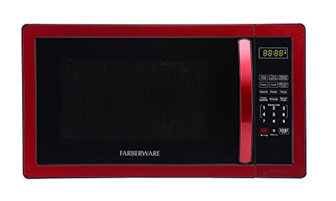 Farberware Classic FMO11AHTBKN 1.1 Cubic Foot 1000-Watt Microwave Oven, Metallic Red