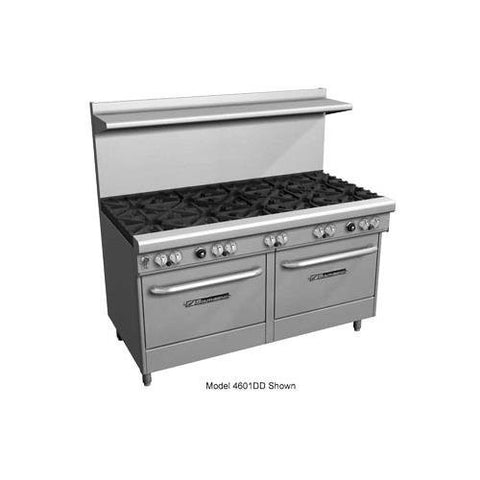 "Southbend 4604AA-3CL 60"" Ultimate Restaurant Gas Range w/ 2 Star-Saute Burners Front, 2 Standard Burners Rear, 36"" Left Charbroiler & (2) Convection Ovens"