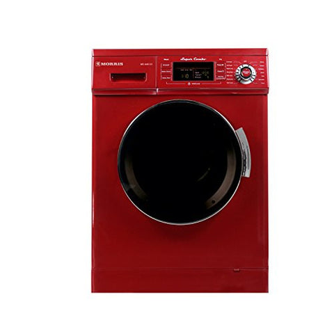 1.6 cu. ft. Compact Combo Washer and Electric Dryer with Optional Condensing/Venting and Sensor Dry in Merlot