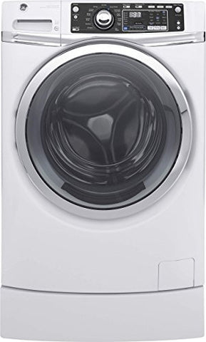 "GE GFW490RSKWW 28"" Front Load Washer with 4.9 cu. ft. Capacity, in White"