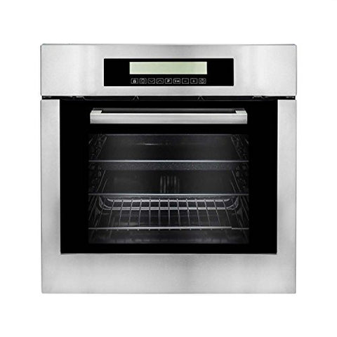 Cosmo C106SIX-PT 24 in. Single Wall Self Cleaning Electric Convection Oven with 10 Functions in Stainless Steel