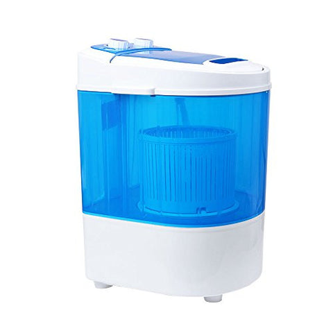 Homeleader W01-012 Mini Washing Machine, Portable and Compact Laundry Washer with 6.6lbs Capacity, Single Tub, Blue and White