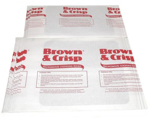 Bulk Pack Of 120 Microwave Oven ~ Brown and Crisp ~ Cooking Bags