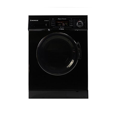 1.6 cu. ft. Compact Combo Washer and Electric Dryer with Optional Condensing/Venting and Sensor Dry in Black