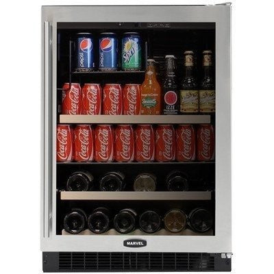 14 Bottle Dual Zone Wine Refrigerator Finish: Black Cabinet With Stainless Frame Glass Door, Hinge Location: Right, Lock: Yes
