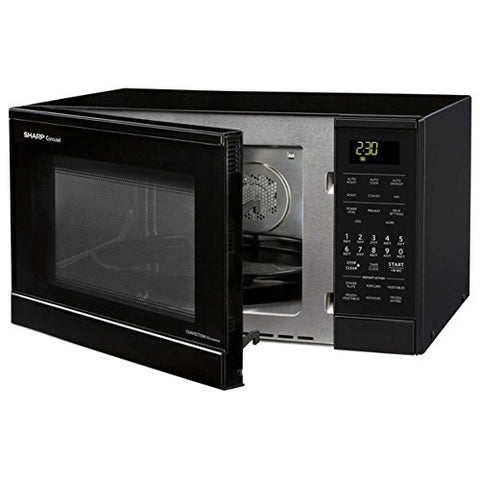 Sharp 0.9 Cu. Ft. 900W Countertop Microwave by Sharp, Microwave Oven, Black