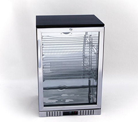 "24"" Stainless Steel and Glass Door Back Bar Beverage Cooler ( )"