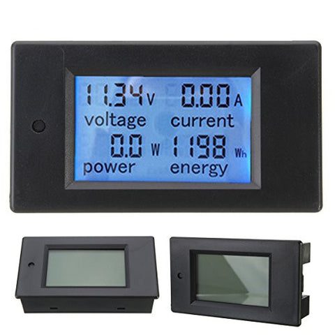 100A DC Digital Multifunction Power Meter Energy Monitor Module Voltmeter Ammeter With Shunt