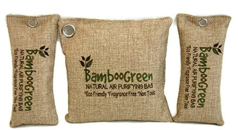 100% All Natural Bamboo Charcoal Air Purifying Bag - Best for Home, Car, RV's, Pet and Shoe Odor