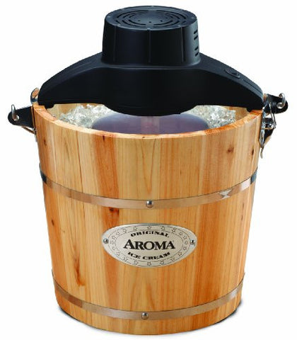 Aroma Housewares AIC-204 Traditional Ice Cream Maker, 4-Quart