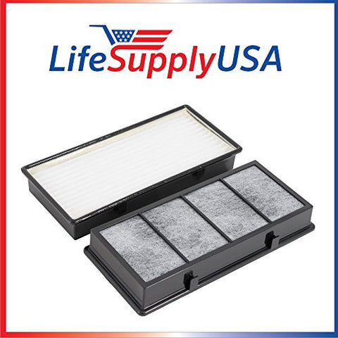 2 Pack Hepa Air Filter fits Holmes HoneyWell Vicks Part # 16216, HRC1, HAPF30, HAPF30D, HAPF30CS - By LifeSupplyUSA
