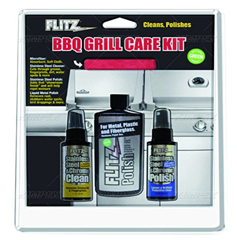 FLITZ BBQ GRILL CARE KIT (Wholesale - Case of 6)