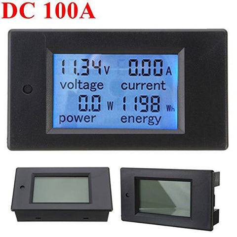 100A DC Digital Multifunction Power Meter Energy Monitor Module Voltmeter Ammeter 6.5V-100