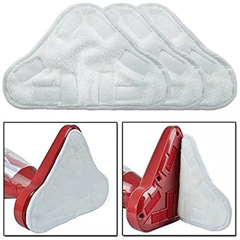 INTELCLEAN Accessories For Set Of 6 Microfibre Steam Mop Floor Washable Replacement Pads For H2O H20 X5