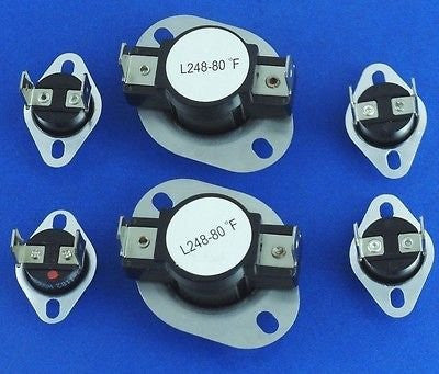 LA-1053 Maytag Dryer Thermostat Fuse Limit Set 2 Pack
