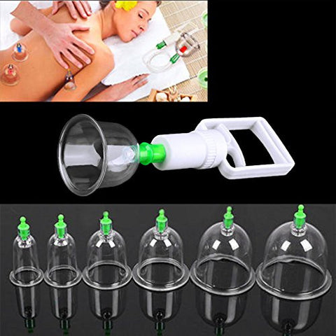 C-circle@12 pcs/ Set Chinese Health care Medical Vacuum Body Cupping Set Portable Massage Therapy Kit body relaxation healthy Massage set
