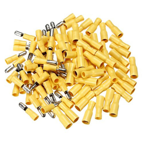 100pcs Male & Female Insulated Wire Bullet Crimp Connector Terminal